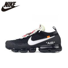 Nike X Off-White The 10: Air Vapormax FK 2.0, Breathable, Running, Sports, Outdoor Sneakers, Unisex, Men & Women (LIMITED EDITION) #AA3831-001 Air Max Sneakers, Shoes Sneakers, Nike Shoes, Top Shoes, Fashion Top, Fall Fashion, Fashion 2018, Fashion Trends, Fashion Weeks