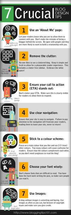 7 Crucial #Blog Design Tips http://logicspice.co.uk/