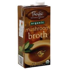 Pacific Natural Foods Organic Mushroom Broth, 32 oz (Pack of 12)