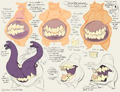 The Merri Monster: Photo Creature Concept Art, Creature Design, Drawing Reference Poses, Design Reference, Character Design Animation, Character Art, Teeth Drawing, Art Prompts, Art Base
