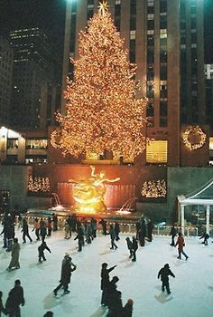 ice skating Rockafeller Center New York New York I hope to do this some day