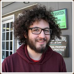 customer wearing frames