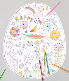 Egg Cellent Easter Printable Coloring Pages