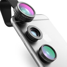 Mobile Phone Lens AUKEY Fish eye Lens 1 Clip-on Cell Phone Camera 180 Degree Fisheye Lens Wide Angle Macro Lens for iPhone Xiaomi Iphone 7 Plus, Mini Studio Photo, Nikon, Iphone Camera Lens, Camera Prices, Phone Clip, Fotografia Macro, Wide Angle Lens, Portable