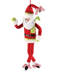 Take a look at this Bendable Santa Ornament by Department 56 on #zulily today!