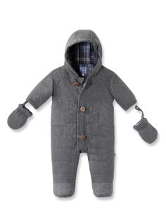 Gordon Quilted Flannel Snowsuit by Jacadi at Gilt