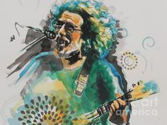 Jerry Garcia from the Grateful Dead...Watercolor prints for sale :)