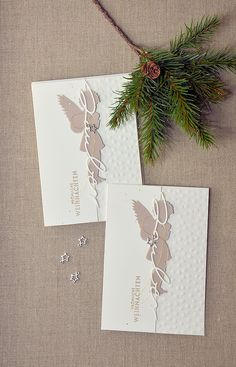 SchnippselChaos: table goodies with pie piece - Weihnachten Christmas Tag, Christmas Angels, Winter Christmas, All Things Christmas, Xmas Cards, Holiday Cards, Holiday Ideas, Karten Diy, Creative Cards