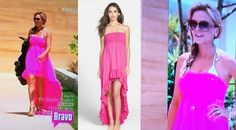 Tamra Judge's Pink High Low Cover Up in Bali http://www.bigblondehair.com/real-housewives/rhoc/tamra-judges-pink-high-low-cover-bali/