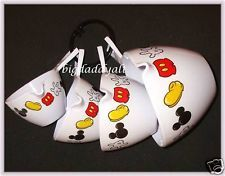 DISNEY WORLD MICKEY MOUSE KITCHEN BODY PARTS MEASURING CUPS