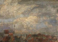 The Perfect Effect Canvas Of Oil Painting 'James Ensor - Rooftops Of Ostend,1884' ,size: 8x11 Inch / 20x28 Cm ,this Best Price Art Decorative Prints On Canvas Is Fit For Home Theater Decor And Home Ar