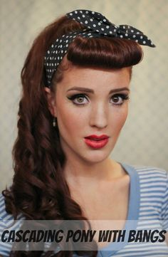 Pin-up Style   The Freckled Fox   www.freckled-fox.com Each link takes you to the tutorial page for that hairstyle...