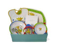 """Canastilla de bebé Color 1"" - 50,50€ (envío a la península incluido) Incluye Caja forrada; Mantelito; Babero; Plato llano; Bol; Taza de aprendizaje; Cuchara; Tenedor Toy Chest, Storage Chest, Lunch Box, Home Decor, Covered Boxes, Table Linens, Spoons, Mugs, Baskets"