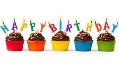 "┌iiiii┐                                                             Happy Birthday.                                            Cupcakes with ""Happy Birthday"" candles"