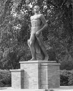 The Sparty statue by Michigan State University Archives, via Flickr