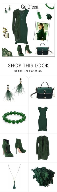 """""""Go green"""" by tre0911 ❤ liked on Polyvore featuring Lizzie Fortunato, Bling Jewelry, Sunday Riley, Anna F., Axara, Carousel Jewels and Garance Doré"""