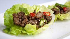 Thai Spicy Pork Lettuce Wraps