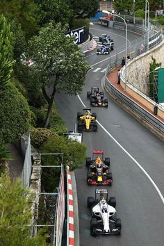 Midfield run down to the hairpin Lewis Hamilton Formula 1, Monaco Grand Prix, F1 Season, F1 Racing, F 1, Formula One, Motor Car, Race Cars, Seasons