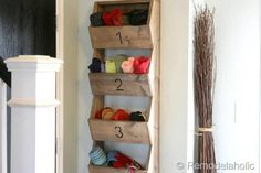 Rustic Wall Storage Bins