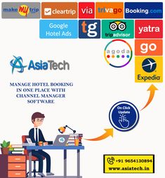 Manage easily hotel booking details, maintain seasonal rates, offers/discounts, hotel rooms rates inventory in different OTA's in real time with just one easy click from single user dashboard.  Minimize Over Bookings, Get Free Demo Now!! For More Info Call Us: +91-9654130894