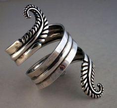 Cuff | Los Castillo. Sterling silver. 1950s. Mexico #bijoux #bijouxcreateur #france #paris #bijouxfantaisie #jewelry