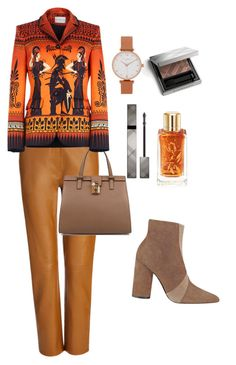 """For creative workers"" by subvilli on Polyvore featuring Joseph, Sigerson Morrison, Dolce&Gabbana, Burberry, Lancôme, Olivia Burton, Mary Katrantzou, WorkWear, Leather and contestentry"