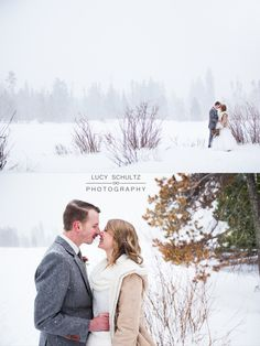 Romantic Winter Wedding Photo Ideas | Colorado Wedding Photographer | Lucy Schultz Photography | Rocky Mountain National Park Wedding | Grey and Blush Wedding Colors