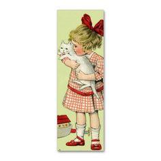 キュートな女の子& 猫の名刺テンプレート。#zazzle #猫