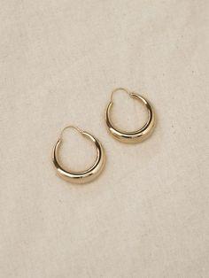 Fat Snake Polished Earrings - Gold by All Blues Snake Jewelry, Cute Jewelry, Gold Drop Earrings, Blue Earrings, Jewelry Trends, Jewelry Accessories, Luxury Jewelry, Ear Piercings, Fashion Jewelry