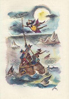 """Podróże Pana Kleksa"" by J. Brzechwa illustration by J. M. Szancer Inspiration For Kids, Book Illustrations, Geraniums, My Childhood, Illustrators, Fairy Tales, Folk, Graphic Design, Weddings"