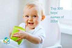 Top 100 boys' names of 2014. #pregnant #maternity #pregnancy