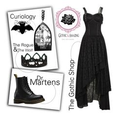 """""""Untitled #162"""" by sinsilky ❤ liked on Polyvore featuring Dr. Martens and Curiology"""