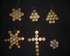 Bullet Casing Cross Pendant Necklace Medium by FarabolliniDesigns