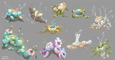 Plants, Eggs design, Geoffrey Soudant on ArtStation at… Game Art, Nature Art, Game Design, Environment Design, Alien Plants, Isometric Art, Environmental Art, Art Tutorials, Landscape Art