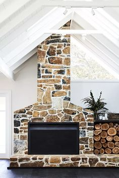 54 Rustic Farmhouse Fireplace Ideas For Your Living Room - Page 9 of 54 - Choti Decor Farmhouse Fireplace, Home Fireplace, Fireplace Design, Fireplace Ideas, Fireplace Stone, Modern Farmhouse Style, Rustic Farmhouse, Texas Farmhouse, Farmhouse Interior
