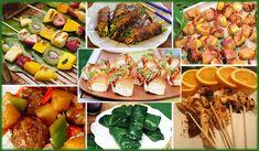 7 Easy Hawaiian Luau Appetizer Recipes Hawaiin Appetizers, Yummy Appetizers, Appetizers For Party, Appetizer Recipes, Dinner Party Menu, Dinner Themes, Dinner Ideas, Hawaiian Luau Party, Hawaiian Theme