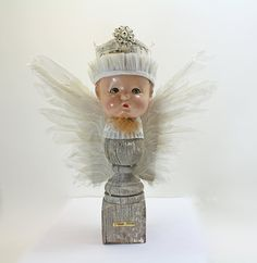Found Object Art Doll Assemblage  The Angel by CuriousCrowArt, $125.00