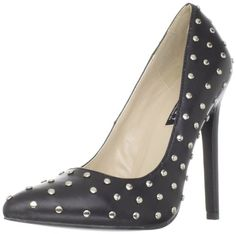 Pleaser Women's Sexy-20ST/BLE Pump,Black Leather,6 M US