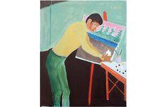Artist at His Easel by Molly Brubaker - Robert Azensky Fine Art Art