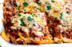 Baked Ziti. Makes a ton! Great for a crowd.