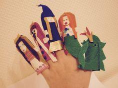 Marionnettes à doigts DIY