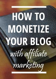 Are you looking to make money from your blog? Maybe you want to turn that hobby into a full time income, or simply just explode your current income. Check out how to get started with affiliate marketing on your blog.