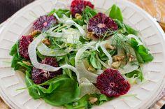 Fennel, blood orange and arugula salad