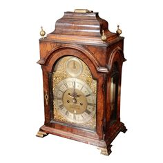 A George II Part-Ebonized Walnut Bracket Clock