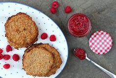 Simple Oat Cookies & Raspberry Jam {Deliciously Ella}