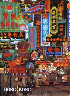 neon signs in hong kong | Hong Kong | Remembering Letters and Postcards