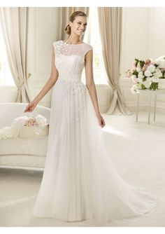 custom made silk chiffon wedding dress