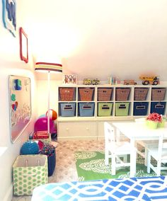 Playroom for a growing family with girls & boys