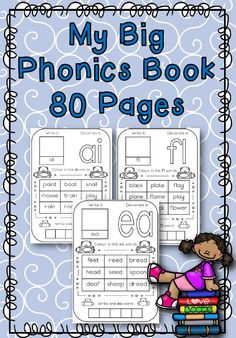 81 Pages Packed with phonics Activities Phonics Books, Phonics Activities, Boat Painting, Letter Writing, Alphabet, Lettering, Big, Words, Color