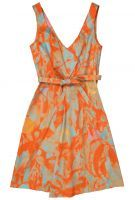 Cacharel Poplin Tangerine Dress  damn this is a nice color combo.  complementary color scheme...